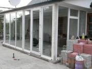 Прибудова (вхід у приватний будинок) із пластикових вікон в Запоріжжі