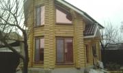 Вікна WDS (ламінація золотий дуб) в с. Канівському в дерев'яному зрубі