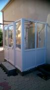 Прибудова (вхід у приватний будинок) із пластикових вікон Стеко